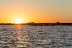 όμορφη ανατολή λιμνών Στοκ φωτογραφία με δικαίωμα ελεύθερης χρήσης