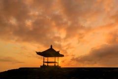 Όμορφη ανατολή σε μια παραλία στο Μπαλί Ινδονησία Στοκ εικόνες με δικαίωμα ελεύθερης χρήσης
