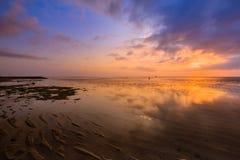 Όμορφη ανατολή σε μια παραλία στο Μπαλί Ινδονησία Στοκ φωτογραφίες με δικαίωμα ελεύθερης χρήσης