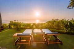 Όμορφη ανατολή σε μια παραλία στο Μπαλί Ινδονησία Στοκ Εικόνα