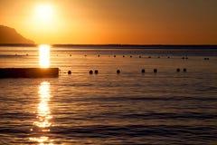 Όμορφη ανατολή στη Ερυθρά Θάλασσα Στοκ φωτογραφία με δικαίωμα ελεύθερης χρήσης