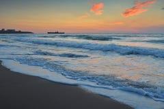 Όμορφη ανατολή στη Μαύρη Θάλασσα - τη Ρουμανία Στοκ Εικόνα