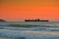 Όμορφη ανατολή στη Μαύρη Θάλασσα - τη Ρουμανία Στοκ Εικόνες