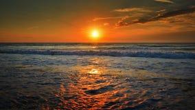 Όμορφη ανατολή στη Μαύρη Θάλασσα - τη Ρουμανία Στοκ εικόνα με δικαίωμα ελεύθερης χρήσης