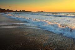 Όμορφη ανατολή στη Μαύρη Θάλασσα - τη Ρουμανία Στοκ φωτογραφίες με δικαίωμα ελεύθερης χρήσης