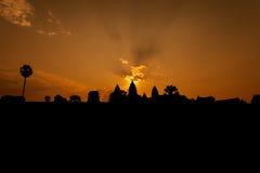 Όμορφη ανατολή στο ναό Angkor Wat Στοκ Φωτογραφίες