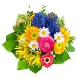 Όμορφη ανθοδέσμη των ζωηρόχρωμων λουλουδιών άνοιξη Στοκ Φωτογραφίες