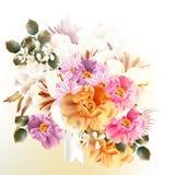 Όμορφη ανθοδέσμη των λουλουδιών για το σχέδιο Στοκ φωτογραφίες με δικαίωμα ελεύθερης χρήσης