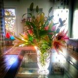 Όμορφη ανθοδέσμη των φρέσκων λουλουδιών Στοκ Φωτογραφίες