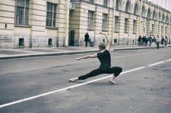 όμορφη απεικόνιση σχεδίου χορευτών μπαλέτου Στοκ εικόνα με δικαίωμα ελεύθερης χρήσης