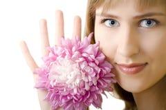 όμορφη απομονωμένη λουλ&omicro Στοκ Φωτογραφία
