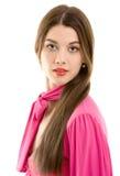 όμορφη απομονωμένη brunette γυναί&kap Στοκ εικόνες με δικαίωμα ελεύθερης χρήσης