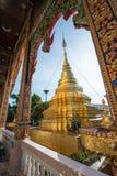 Όμορφη αρχαία παγόδα σε Wat Mahawan Στοκ εικόνες με δικαίωμα ελεύθερης χρήσης