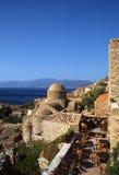 Όμορφη αρχαία πόλη Monemvasia, Ελλάδα Στοκ Φωτογραφίες