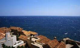 Όμορφη αρχαία πόλη Monemvasia, Ελλάδα Στοκ Φωτογραφία