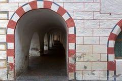 Όμορφη αρχιτεκτονική λεπτομέρεια του arcade σε Laubengasse, αψίδα PA Στοκ φωτογραφίες με δικαίωμα ελεύθερης χρήσης