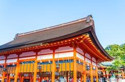 Όμορφη αρχιτεκτονική Fushimiinari Taisha ShrineTemple στο Κιότο Στοκ φωτογραφία με δικαίωμα ελεύθερης χρήσης