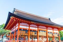 Όμορφη αρχιτεκτονική Fushimiinari Taisha ShrineTemple στο Κιότο Στοκ Εικόνα