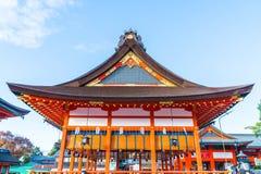 Όμορφη αρχιτεκτονική Fushimiinari Taisha ShrineTemple στο Κιότο Στοκ Φωτογραφίες
