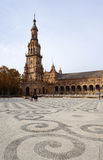Όμορφη αρχιτεκτονική Plaza de España του κτηρίου με το beauti Στοκ Φωτογραφίες