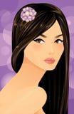 Όμορφη ασιατική γυναίκα ελεύθερη απεικόνιση δικαιώματος