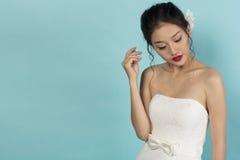 Όμορφη ασιατική νύφη Στοκ Φωτογραφία