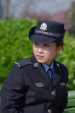 όμορφη αστυνομικίνα Στοκ εικόνες με δικαίωμα ελεύθερης χρήσης