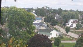 Όμορφη δασώδης γειτονιά του Iowa Στοκ φωτογραφία με δικαίωμα ελεύθερης χρήσης