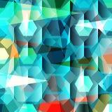 Όμορφη αφηρημένη γεωμετρική ζωηρόχρωμη διανυσματική απεικόνιση υποβάθρου Στοκ φωτογραφία με δικαίωμα ελεύθερης χρήσης