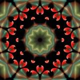 Όμορφη αφηρημένη διακόσμηση απομονωμένο στο ο Μαύρος υπόβαθρο Στοκ εικόνα με δικαίωμα ελεύθερης χρήσης