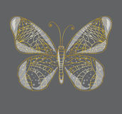 Όμορφη αφηρημένη πεταλούδα. απεικόνιση αποθεμάτων