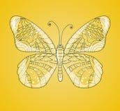 Όμορφη αφηρημένη πεταλούδα ελεύθερη απεικόνιση δικαιώματος
