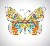 Όμορφη αφηρημένη πεταλούδα διανυσματική απεικόνιση
