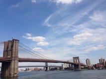 Όμορφη γέφυρα του Μπρούκλιν Στοκ Εικόνες
