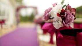 Όμορφη γαμήλια αίθουσα, απόθεμα βίντεο