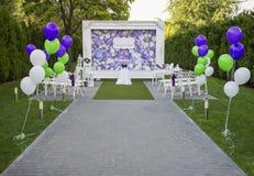 Όμορφη γαμήλια οργάνωση Στοκ Εικόνες