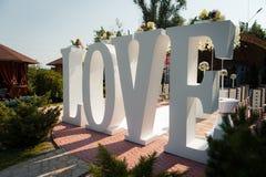 Όμορφη γαμήλια τελετή στο πάρκο Στοκ Φωτογραφίες