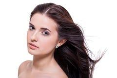 Όμορφη γαλήνια γυναίκα με μια ευγενή έκφραση στοκ φωτογραφία με δικαίωμα ελεύθερης χρήσης