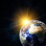 Όμορφη γη στο διάστημα διανυσματική απεικόνιση