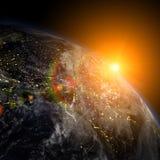 Όμορφη γη στο διάστημα ελεύθερη απεικόνιση δικαιώματος