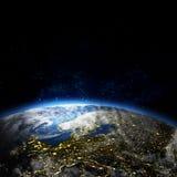 Όμορφη γη στο διάστημα απεικόνιση αποθεμάτων