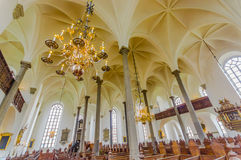Όμορφη γοτθική εκκλησία σε Kristianstad, Σουηδία Στοκ φωτογραφία με δικαίωμα ελεύθερης χρήσης