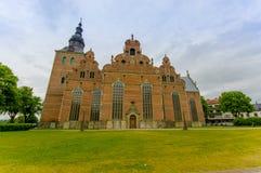 Όμορφη γοτθική εκκλησία σε Kristianstad, Σουηδία Στοκ Φωτογραφίες