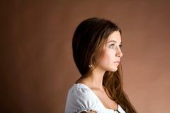 όμορφη γυναίκα αγωνίας Στοκ φωτογραφία με δικαίωμα ελεύθερης χρήσης