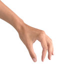 όμορφη γυναίκα αντικειμένων εκμετάλλευσης χεριών Στοκ Εικόνες