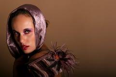 όμορφη γυναίκα αφροαμερι Στοκ Εικόνες