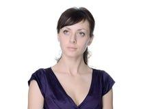 Όμορφη γυναίκα βαθιά στη σκέψη στοκ εικόνες με δικαίωμα ελεύθερης χρήσης