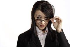 όμορφη γυναίκα γυαλιών Στοκ εικόνες με δικαίωμα ελεύθερης χρήσης