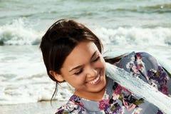 όμορφη γυναίκα θάλασσας Στοκ εικόνες με δικαίωμα ελεύθερης χρήσης