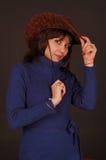 όμορφη γυναίκα καπέλων κάο& Στοκ Φωτογραφίες